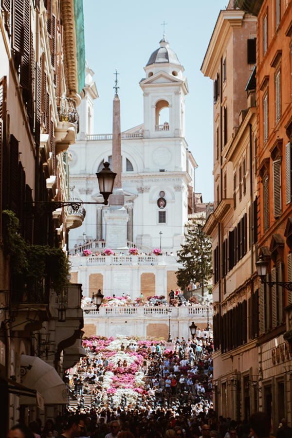 La place d\'Espagne ou Piazzia di Spagna