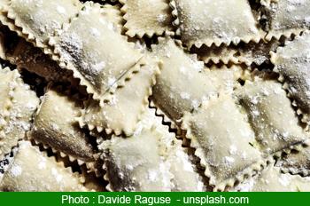 Plats italien : ravioli