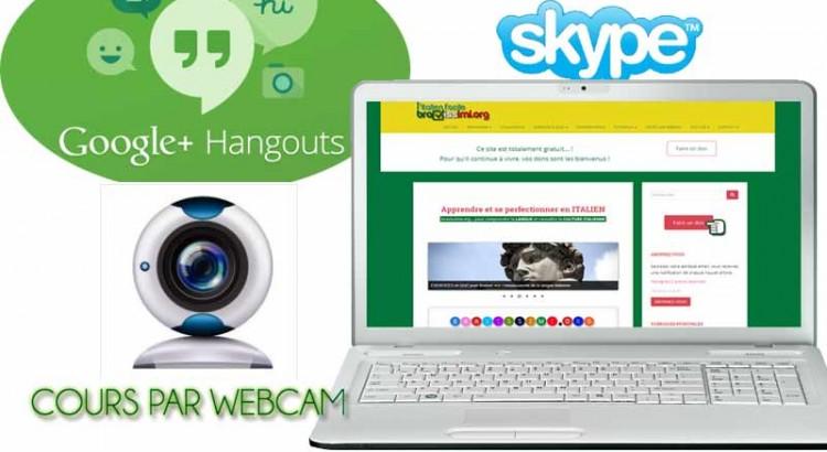 Cours d'italien à distance en ligne par web cam